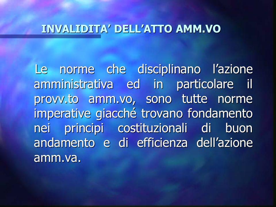 LANNULLABILITA LANNULLABILITA VIZI DI MERITO Il g.a.