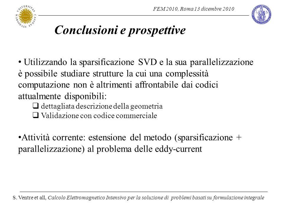 FEM 2010, Roma 13 dicembre 2010 S. Ventre et all, Calcolo Elettromagnetico Intensivo per la soluzione di problemi basati su formulazione integrale Uti
