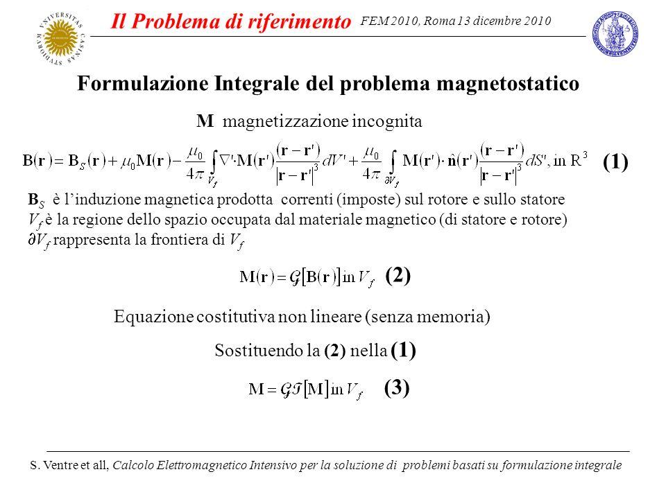 FEM 2010, Roma 13 dicembre 2010 S. Ventre et all, Calcolo Elettromagnetico Intensivo per la soluzione di problemi basati su formulazione integrale For