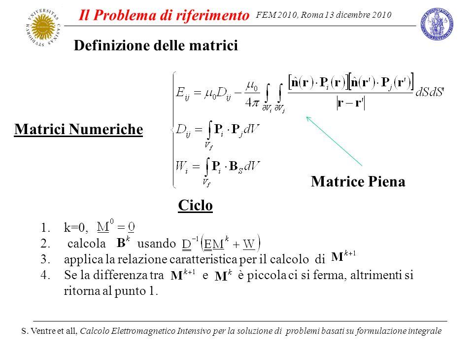 FEM 2010, Roma 13 dicembre 2010 S. Ventre et all, Calcolo Elettromagnetico Intensivo per la soluzione di problemi basati su formulazione integrale Def