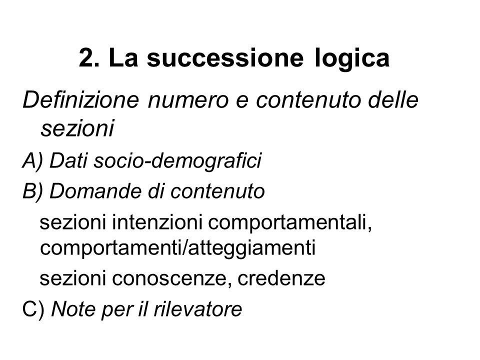 Domande strutturate (esempio) Da quanto tempo vive in Italia.