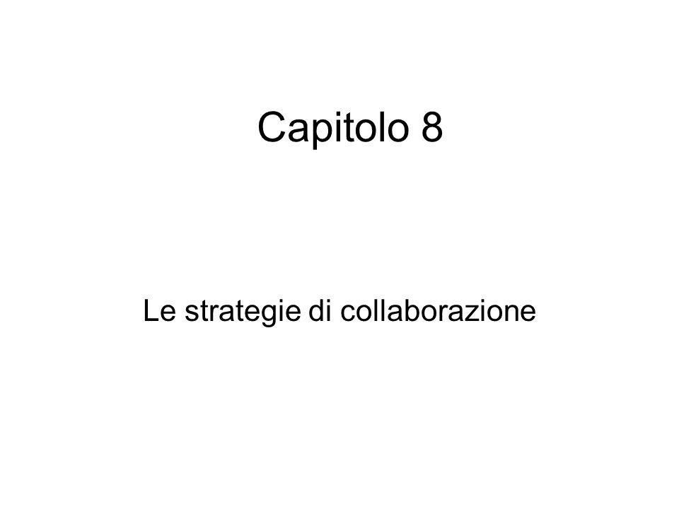 Capitolo 8 Le strategie di collaborazione