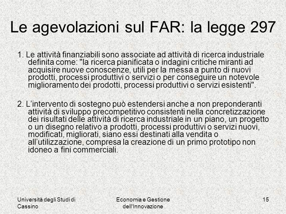 Università degli Studi di Cassino Economia e Gestione dell Innovazione 15 1.