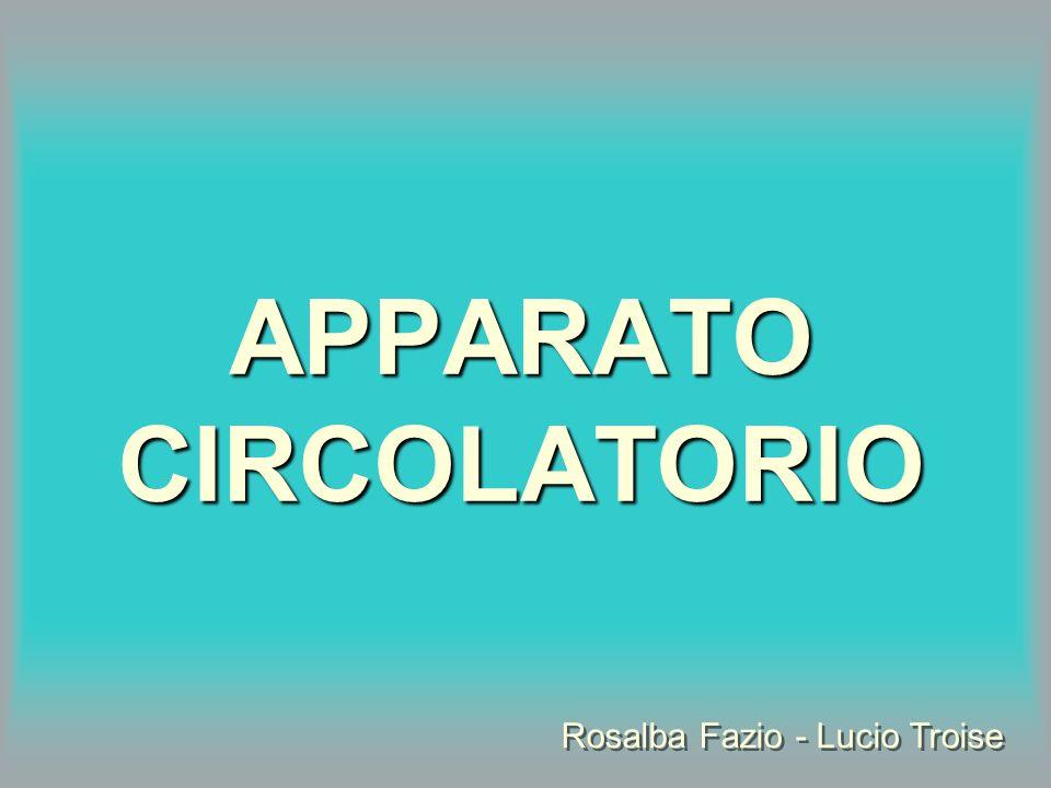 APPARATO CIRCOLATORIO Rosalba Fazio - Lucio Troise Rosalba Fazio - Lucio Troise