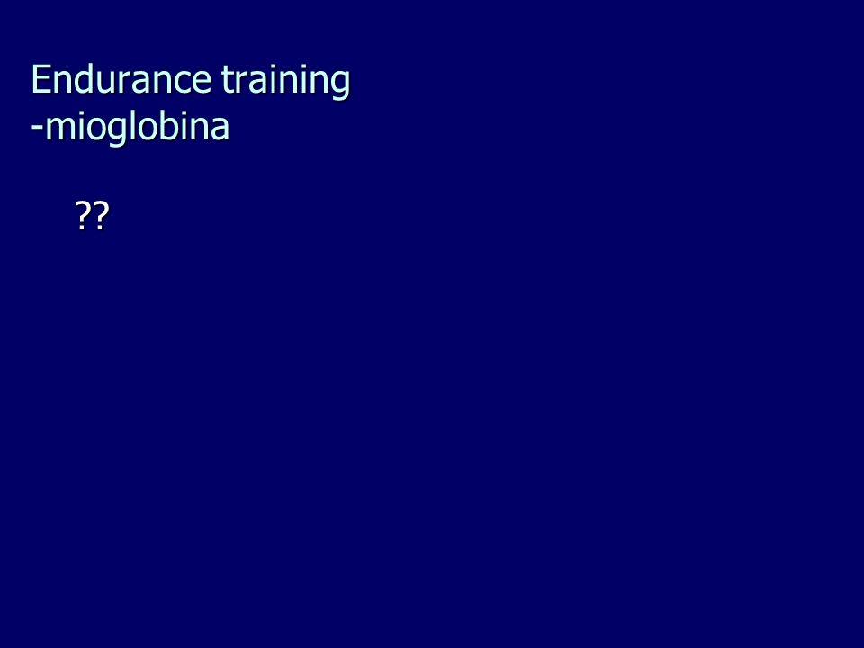 Endurance training -mioglobina ??