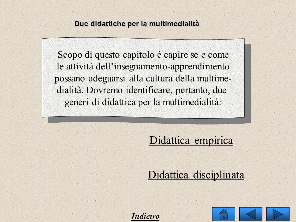 Due didattiche per la multimedialità Contenuti e forme dentro i media I soggetti della didattica Gli oggetti della didattica Il territorio della didat
