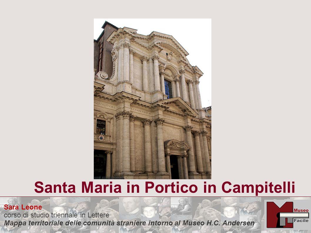 Sara Leone corso di studio triennale in Lettere Mappa territoriale delle comunità straniere intorno al Museo H.C. Andersen Santa Maria in Portico in C