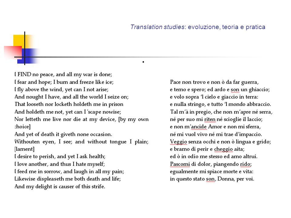 Translation studies: evoluzione, teoria e pratica.