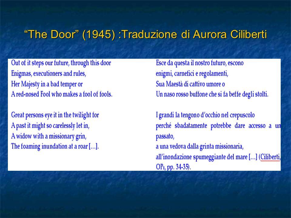 The Door (1945) :Traduzione di Aurora CilibertiThe Door (1945) :Traduzione di Aurora Ciliberti