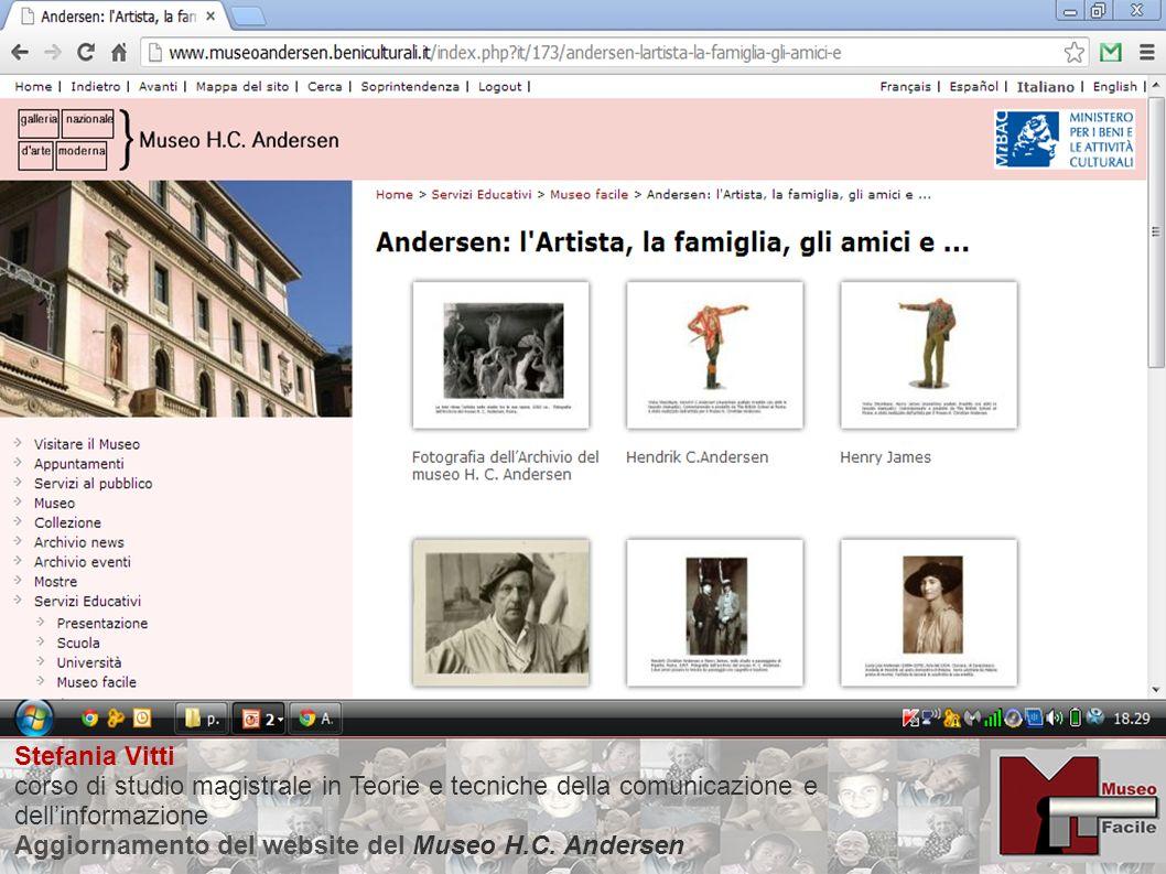 Stefania Vitti corso di studio magistrale in Teorie e tecniche della comunicazione e dellinformazione Aggiornamento del website del Museo H.C.