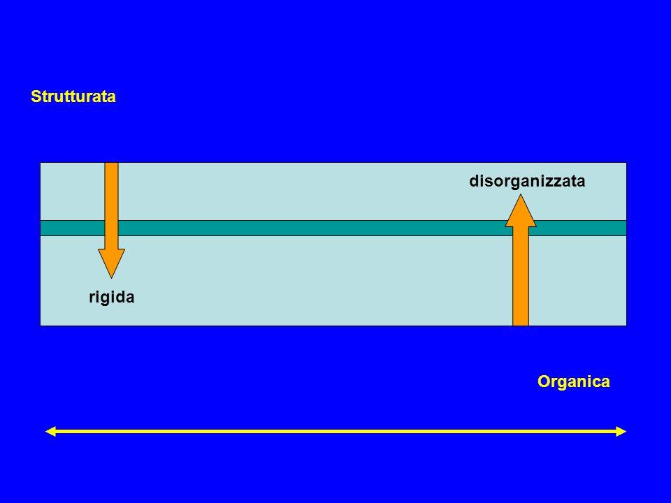 Strutturata Organica rigida disorganizzata