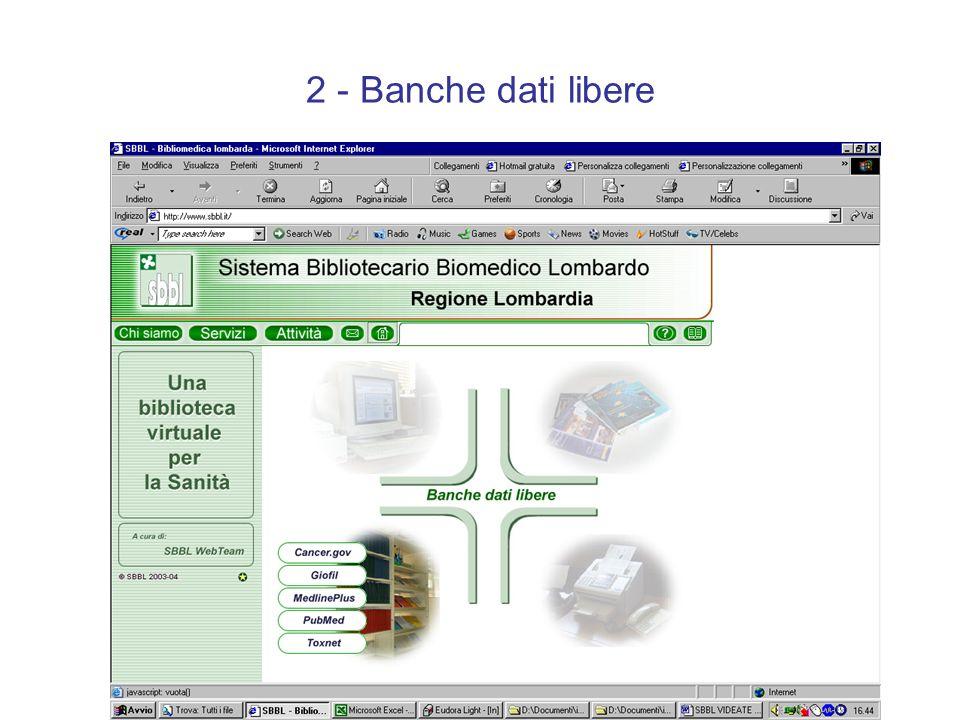 2 - Banche dati libere