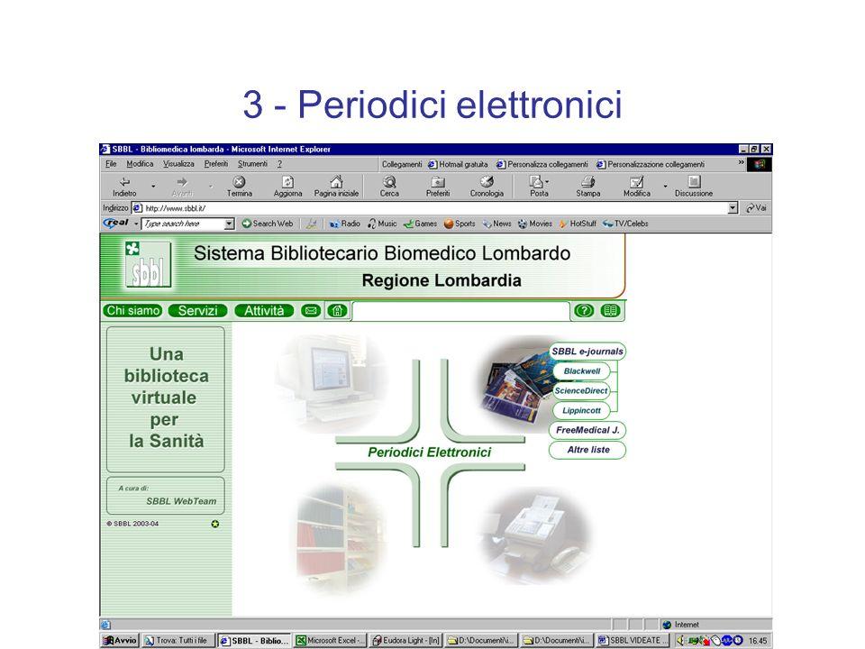 3 - Periodici elettronici