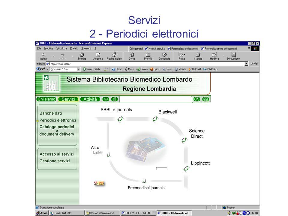 Servizi 2 - Periodici elettronici