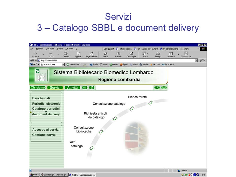 Servizi 3 – Catalogo SBBL e document delivery