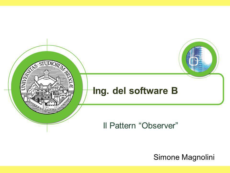 Ing. del software B Il Pattern Observer Simone Magnolini