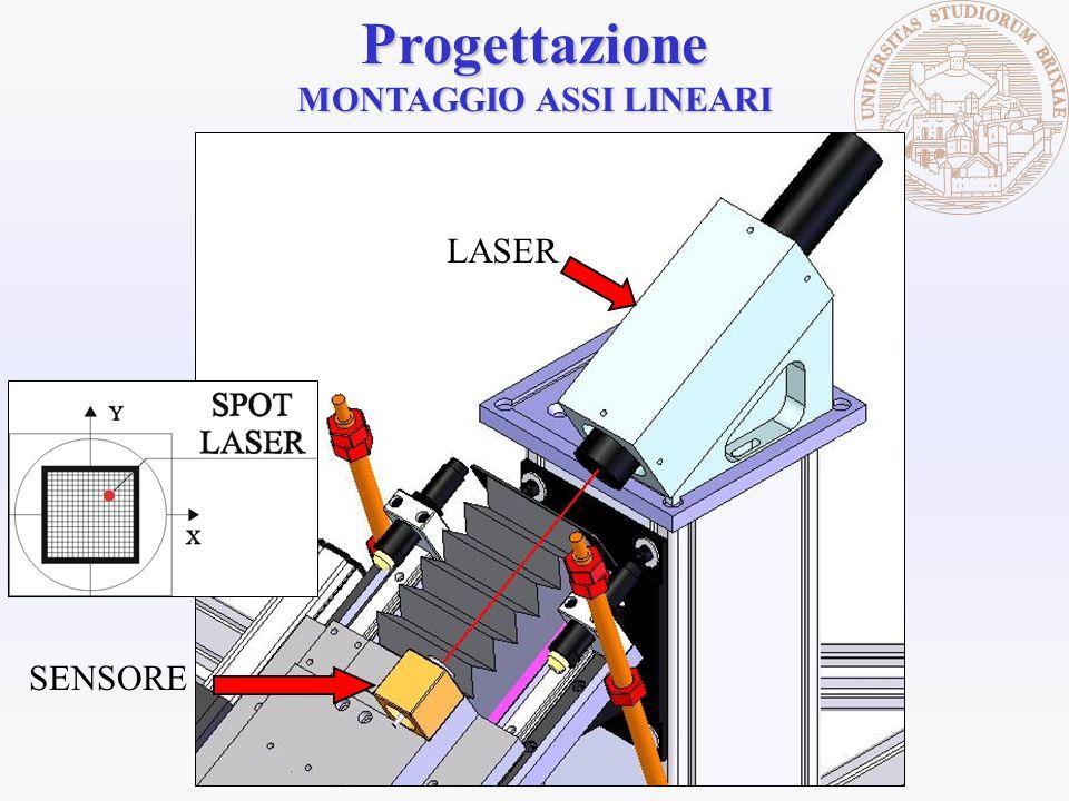 LASERProgettazione MONTAGGIO ASSI LINEARI SENSORE