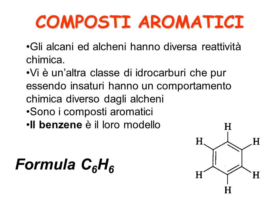 COMPOSTI AROMATICI Gli alcani ed alcheni hanno diversa reattività chimica.