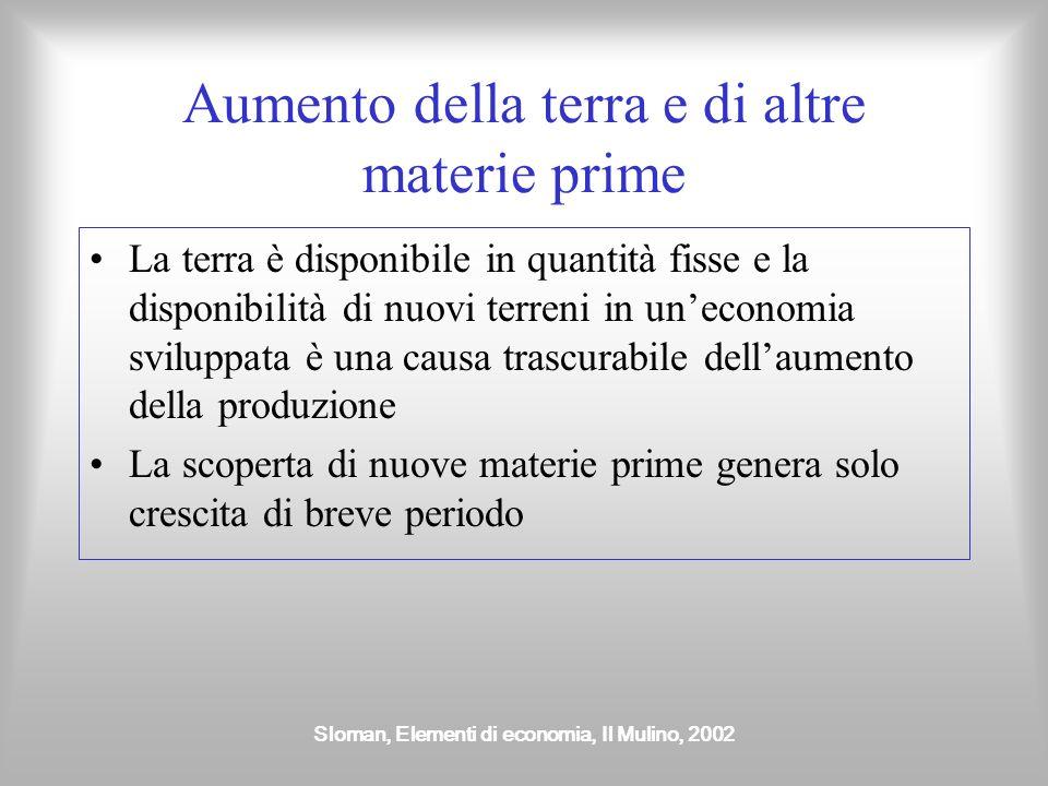 Sloman, Elementi di economia, Il Mulino, 2002 Aumento del lavoro Un aumento della popolazione attiva dovuto a un aumento del tasso di partecipazione u
