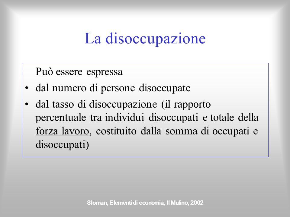 Sloman, Elementi di economia, Il Mulino, 2002 Politiche a favore della crescita Politiche della domanda mirano a favorire un aumento della crescita ef