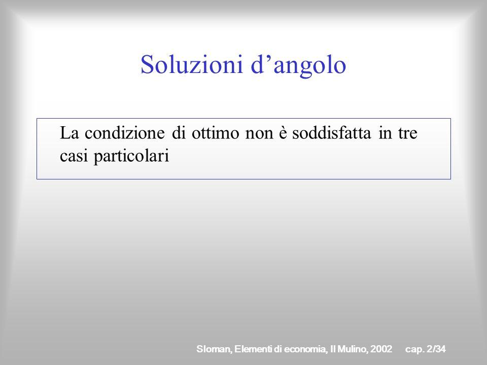 Sloman, Elementi di economia, Il Mulino, 2002cap. 2/33 Saggio marginale di sostituzione e utilità marginale Nel nostro esempio: consideriamo variazion