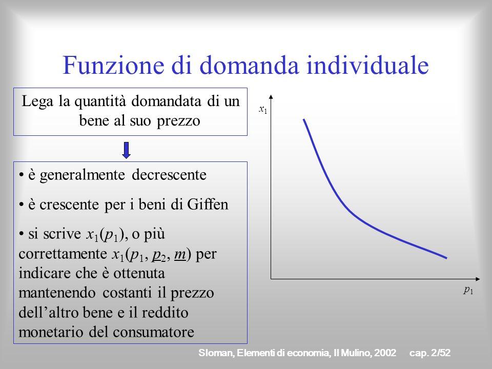 Sloman, Elementi di economia, Il Mulino, 2002cap. 2/51 Sentiero di espansione del prezzo È la curva che unisce tutti i punti di ottimo al variare del