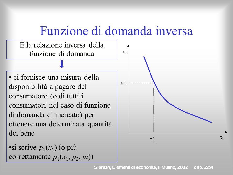 Sloman, Elementi di economia, Il Mulino, 2002cap. 2/53 Funzione di domanda di mercato Si ricava attraverso un processo di aggregazione ed è costituita
