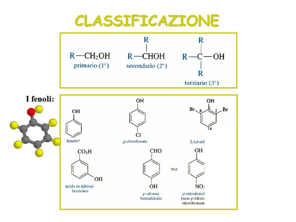 CLASSIFICAZIONE I fenoli: