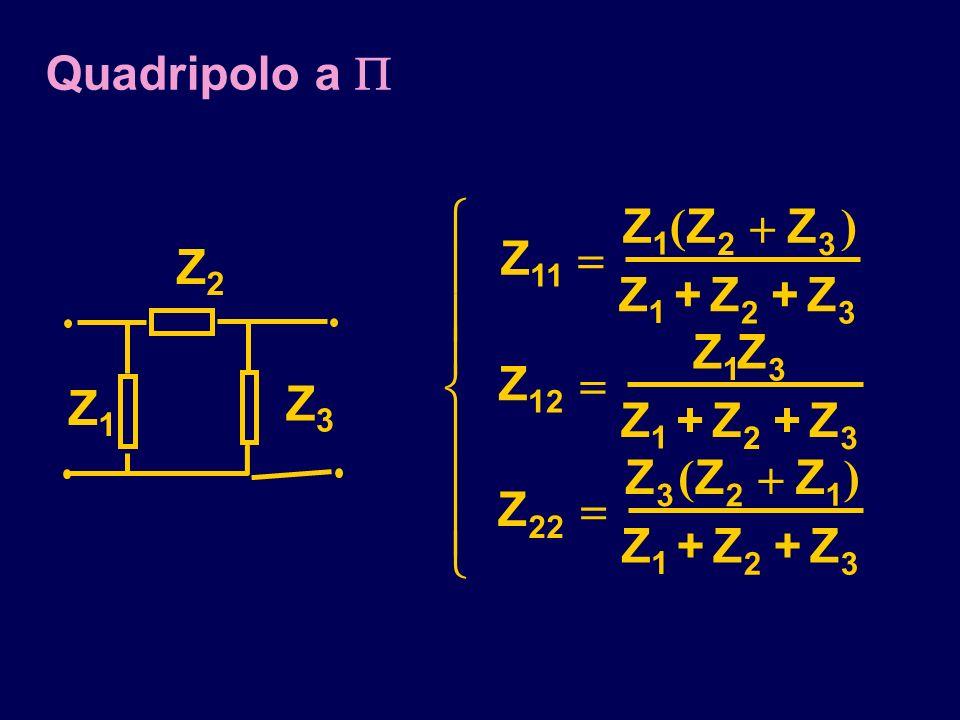 Quadripolo a Z3Z3 Z1Z1 Z2Z2 Z ZZZ Z+Z+Z Z ZZ Z+Z+Z Z ZZZ Z+Z+Z 11 1 23 1 23 12 1 3 1 23 22 32 1 1 23 () ()