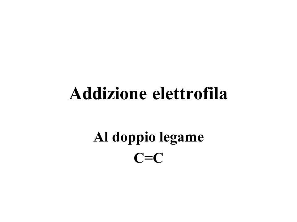Reagenti elettrofili sono poveri di elettroni e caratterizzati da una carica positiva totale o parziale sono attratti da molecole (o parti di esse) co