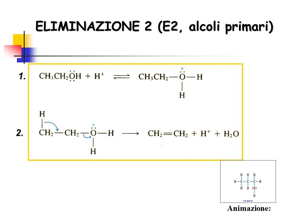 ELIMINAZIONE 2 (E2, alcoli primari) 1. 2. Animazione: