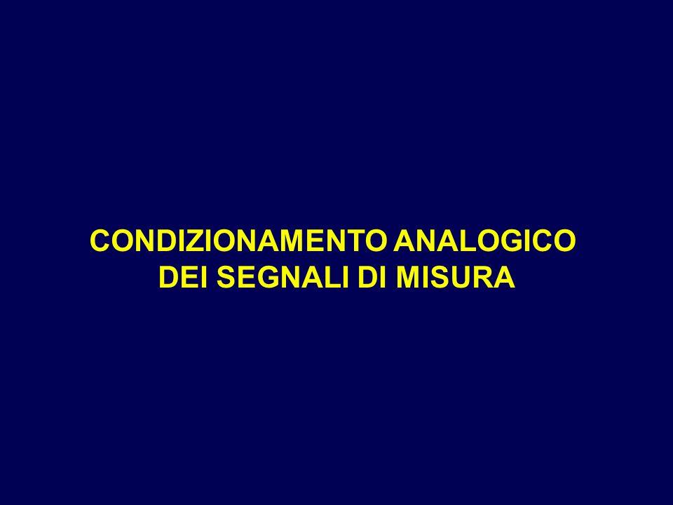 CONDIZIONAMENTO ANALOGICO DEI SEGNALI DI MISURA