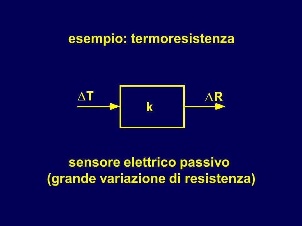 esempio: termoresistenza sensore elettrico passivo (grande variazione di resistenza)