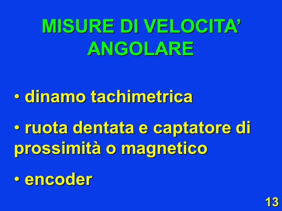13 dinamo tachimetrica dinamo tachimetrica ruota dentata e captatore di prossimità o magnetico ruota dentata e captatore di prossimità o magnetico enc