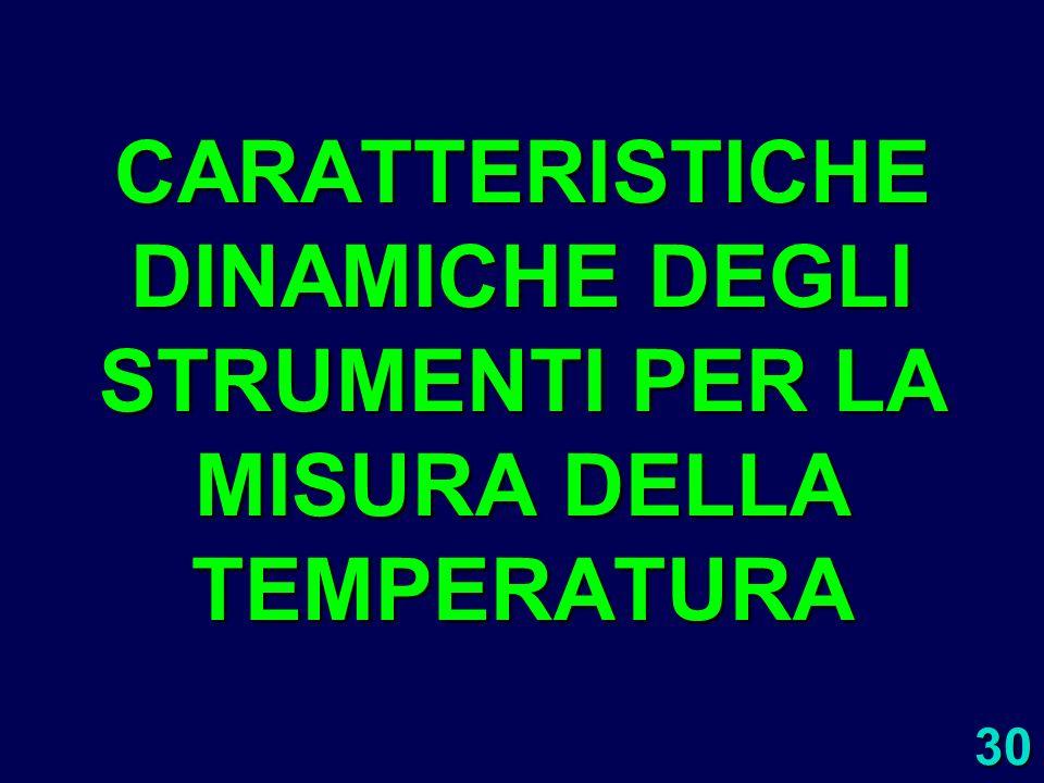 30 CARATTERISTICHE DINAMICHE DEGLI STRUMENTI PER LA MISURA DELLA TEMPERATURA