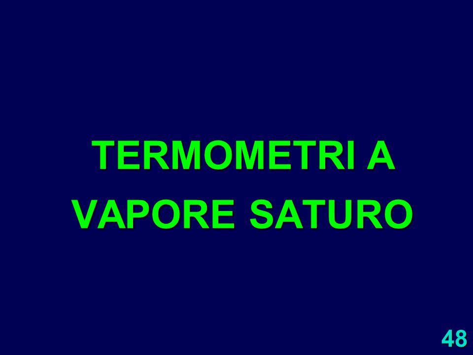 48 TERMOMETRI A VAPORE SATURO