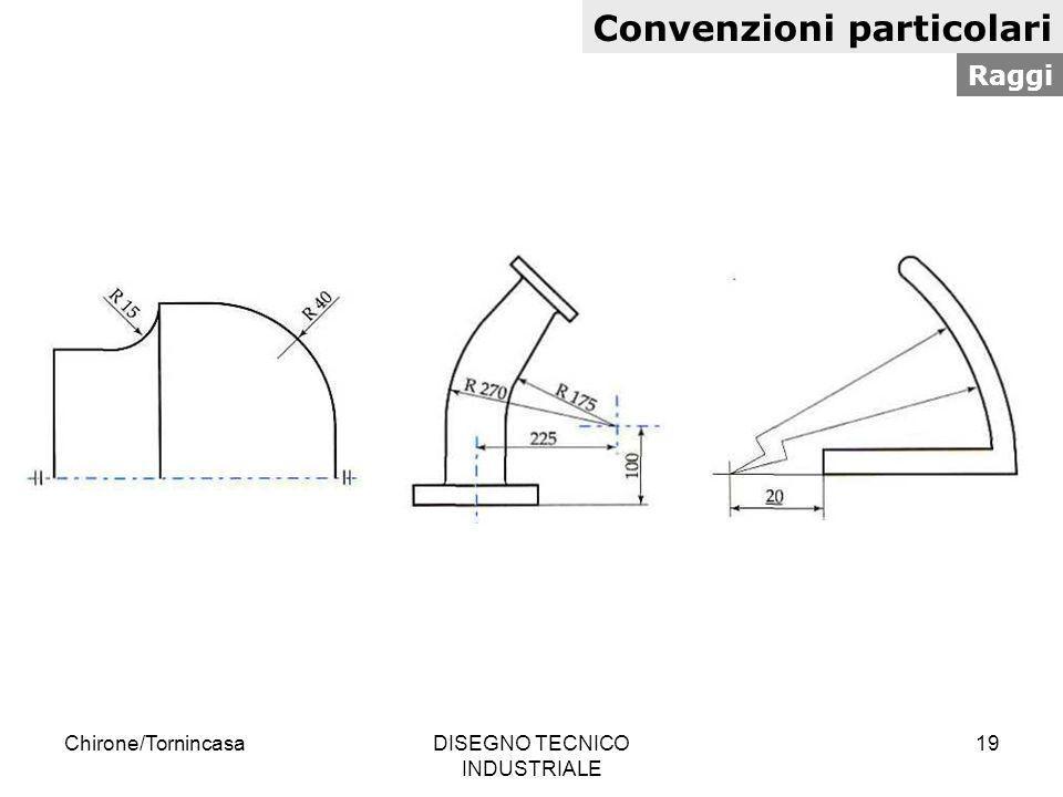Chirone/TornincasaDISEGNO TECNICO INDUSTRIALE 19 Convenzioni particolari Raggi
