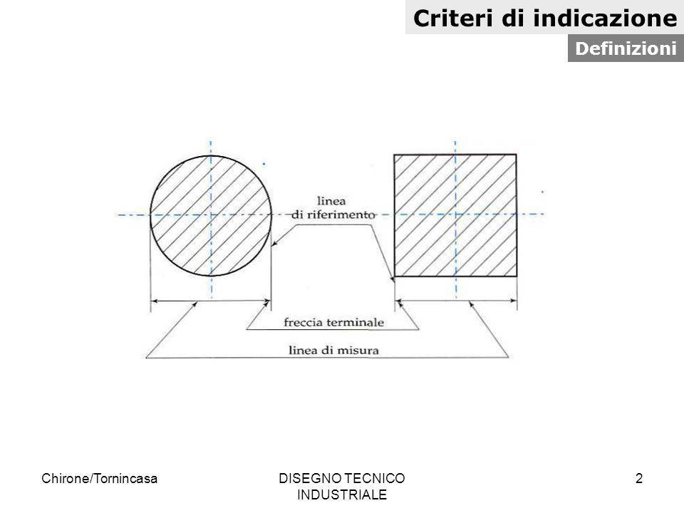 Chirone/TornincasaDISEGNO TECNICO INDUSTRIALE 13 Criteri di indicazione Frecce