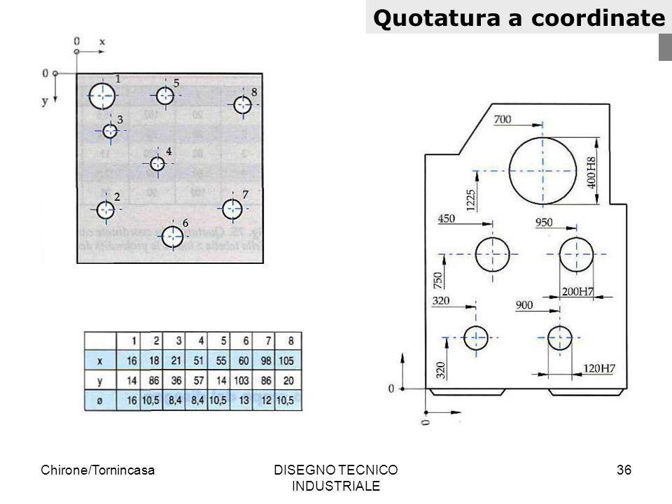 Chirone/TornincasaDISEGNO TECNICO INDUSTRIALE 36 Quotatura a coordinate