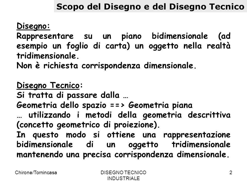 Chirone/TornincasaDISEGNO TECNICO INDUSTRIALE 13 Norme per il disegno tecnico Squadratura dei fogli