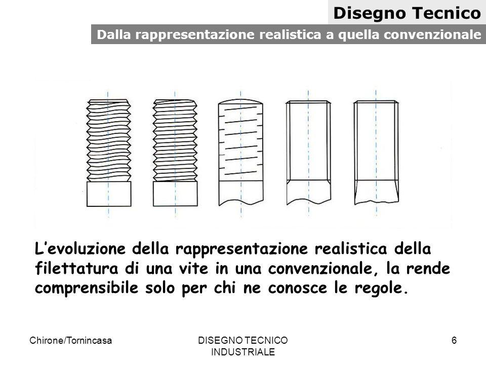 Chirone/TornincasaDISEGNO TECNICO INDUSTRIALE 7 Disegno Tecnico Disegno costruttivo di un particolare