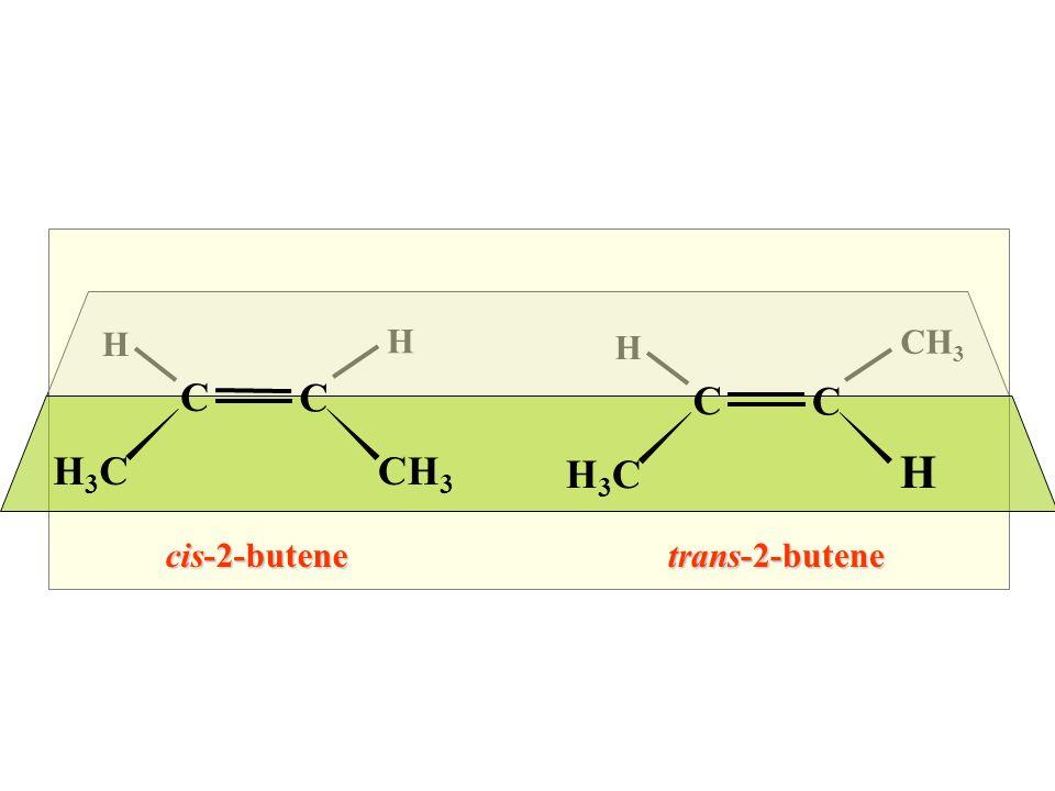 H H CH 3 H C C H3CH3C H C C H3CH3C cis-2-butenetrans-2-butene Questo ?