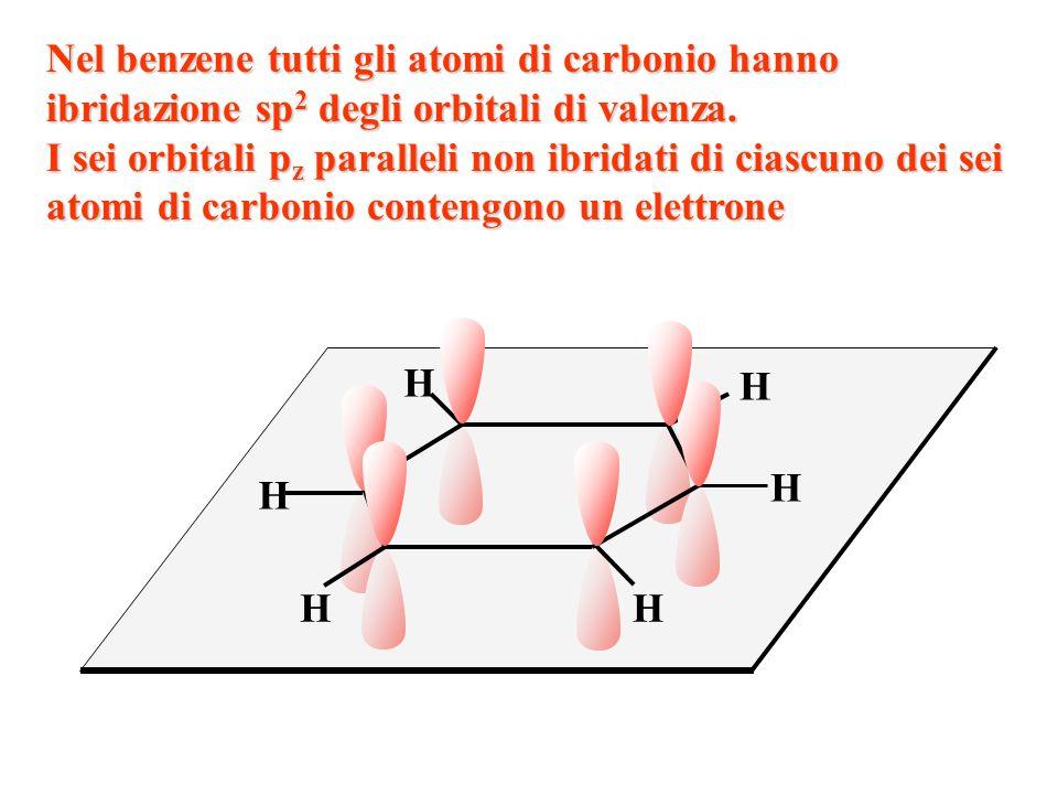 1. I sei carboni del benzene hanno ibridazione degli orbitali di valenza orbitali di valenza sp 3 sp 2 sp 3 d 2