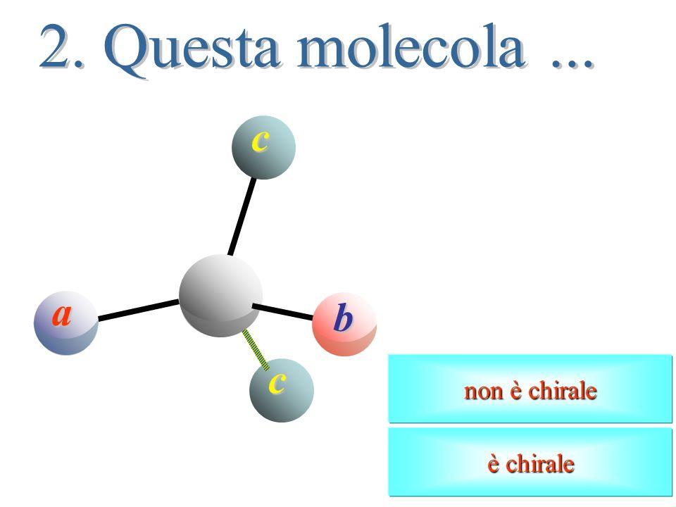 a b c d Latomo centrale ha ibridazione sp 3 ed è legato a quattro sostituenti diversi. a b c d Esiste, di conseguenza, unaltra molecola nella quale gl