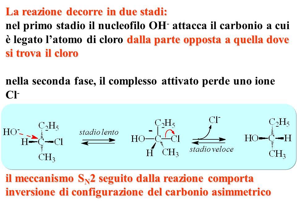 Nella reazione del 2(R)-clorobutano con una base forte si forma... 2(R)-butanolo 2(S)-butanolo 2(R)-butanale butanone