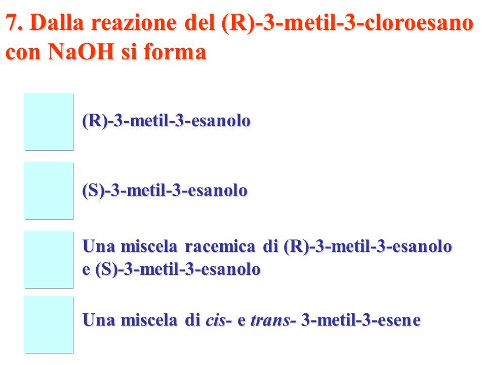 R3R3 R2R2 + R1R1R1R1 R2R2 Cl R3R3 R1R1R1R1 Cl - Le reazioni di sostituzione nucleofila degli alogeno-derivati terziari decorrono con cinetica la fase