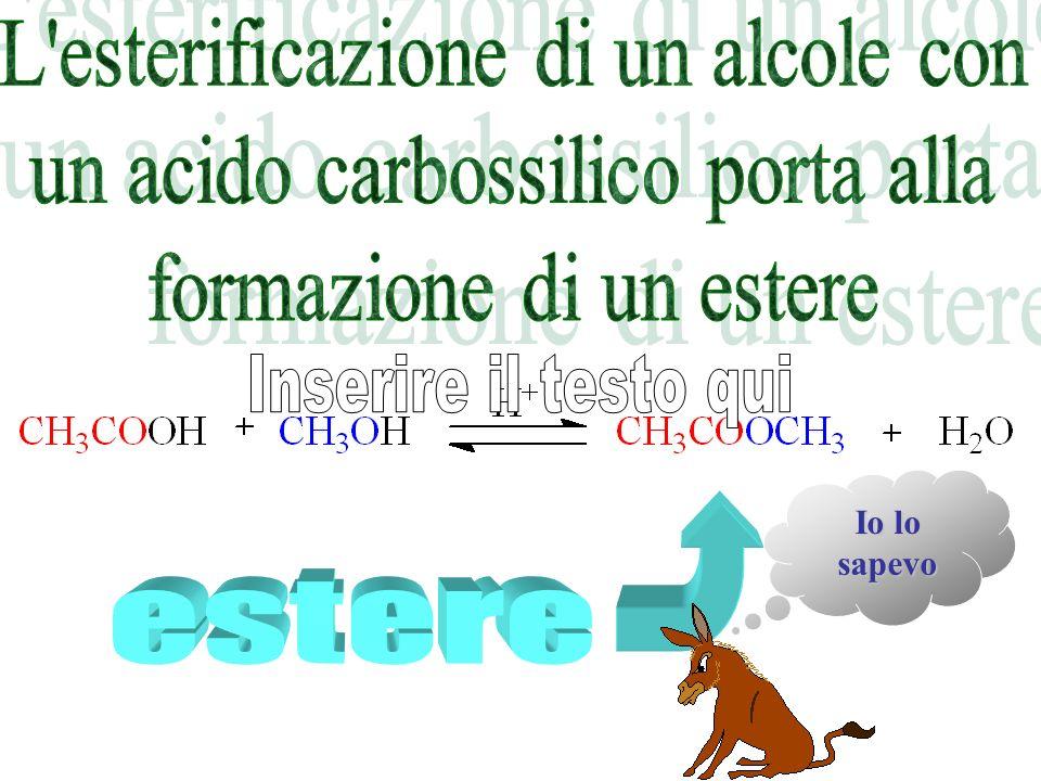 Per reazione di un alcol con un acido carbossilico si ottiene... carbossilico si ottiene... a b c d Un chetone Un etere Unanidride mista Un estere