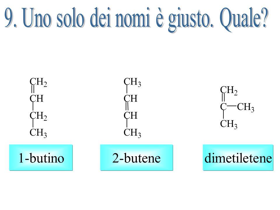Il carbonio 1 ha due sostituenti uguali e perciò non può aversi stereoisomeria geometrica