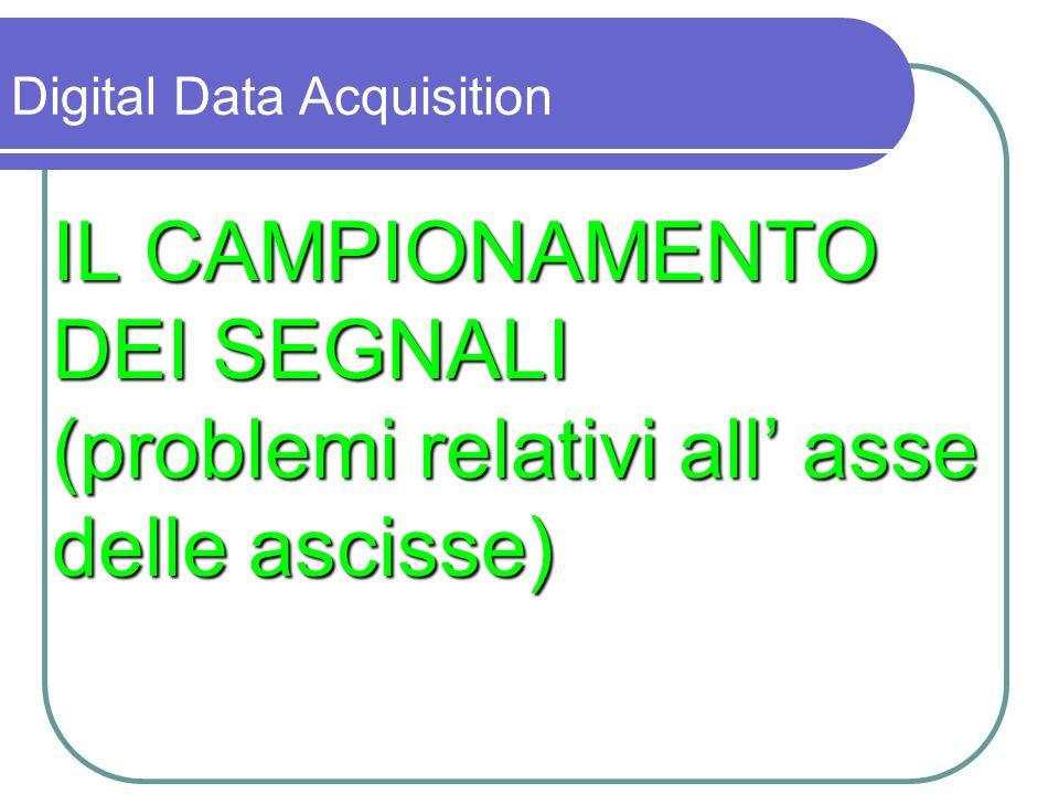 Campionamento di un segnale analogico V(t) conversione del segnale in una sequenza di dati digitali (t i,V i ) V (t i, V i ) i=1,......