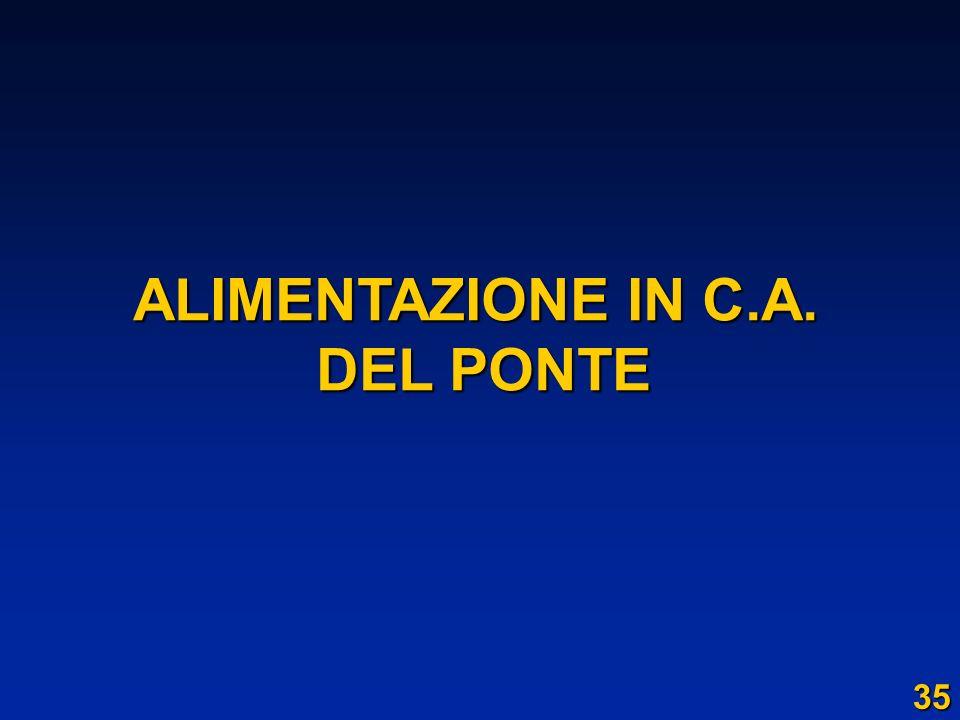 ALIMENTAZIONE IN C.A. DEL PONTE DEL PONTE 35